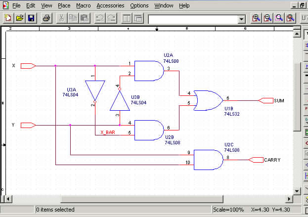 CADX Services on digital electronics, logic synthesis, electronic design automation, schematic editor,